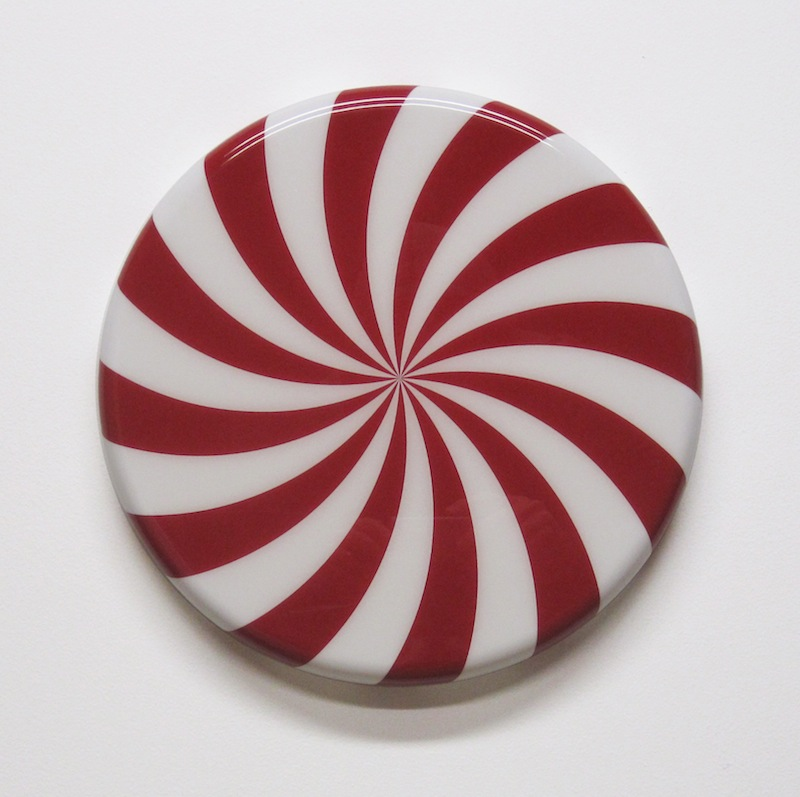"Swirl by Jay Kaplan | MDF, Enamel, Vinyl, Resin | 12"" (available individually or as installations)"