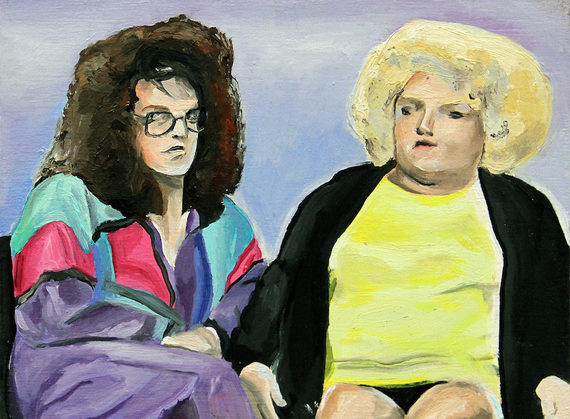 "I'm a Transvestite and So Is My Mother by Jill Silverberg | Oil on Panel | 7"" x 5"""