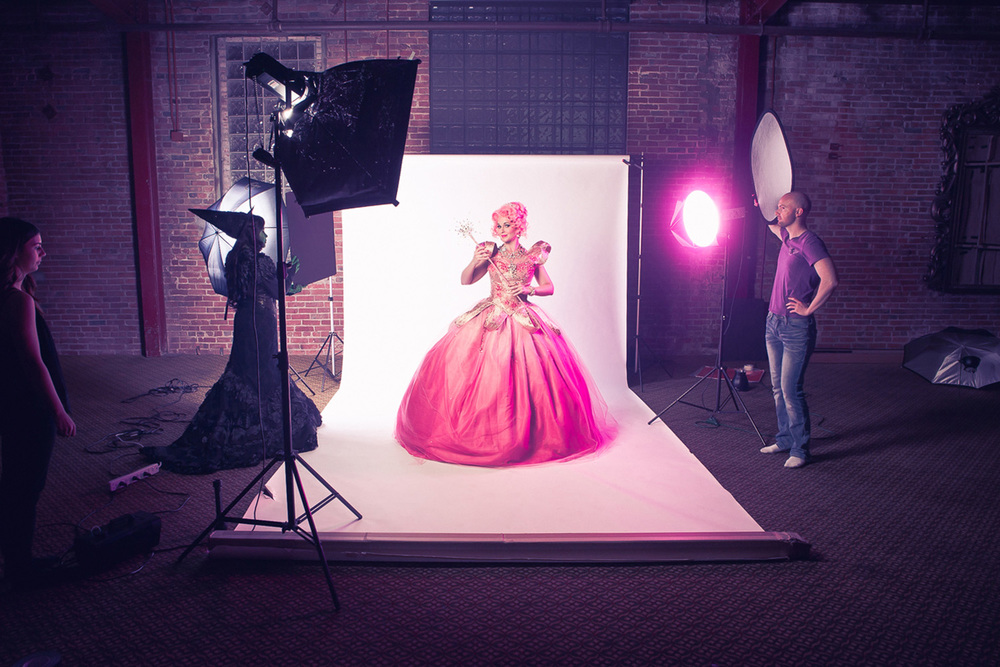 Photo by Anthony Matula behind the scenes of'The Wizard of Oz' press shoot