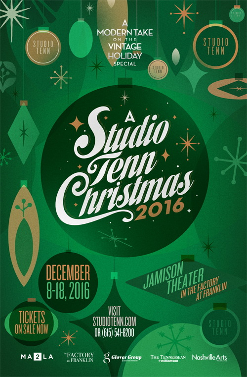 A Studio Tenn Christmas show poster