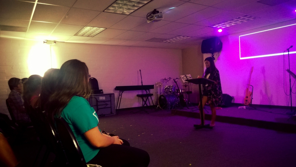 Ari sharing some of her experience as a young lady serving Jesus.