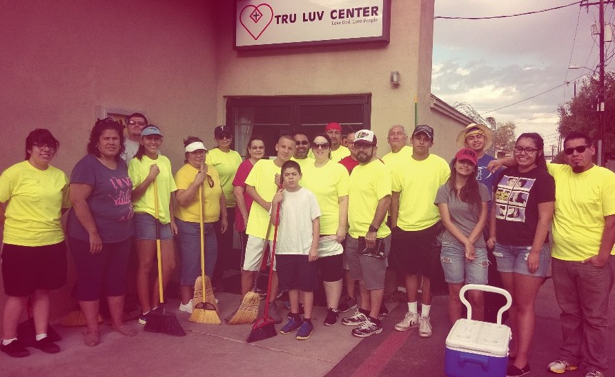 Loving and serving our community through some sweeping action!!