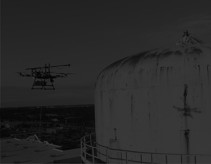 ULTRASONIC TESTING (UT) - Measure wall thickness of industrial structures in a safer and more cost-effective way with the Apellix autonomous UT drone.