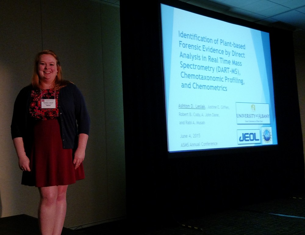 Ashton presents in the Forensic session of ASMS 2015.
