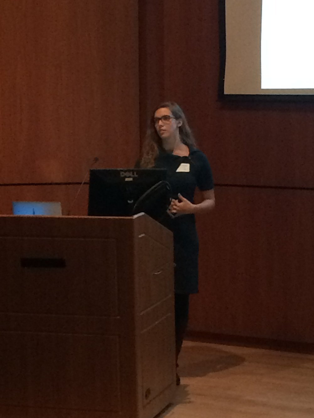 Kristen presenting at the 8th Annual LSRS.