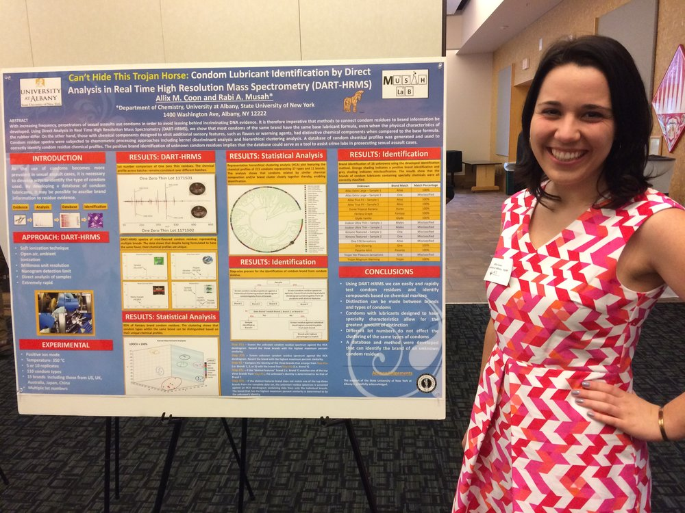 Allix presenting her poster at ENY ACS Undergraduate Research Symposium.