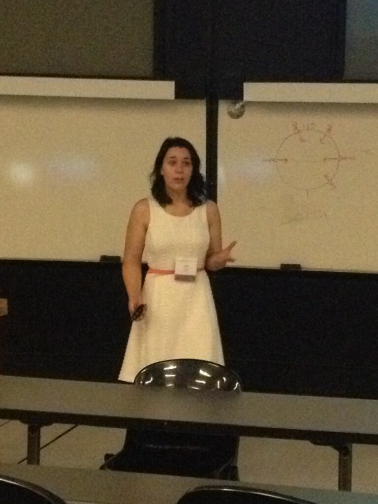 Allix presenting at the 14th Annual Undergraduate Research Conference.
