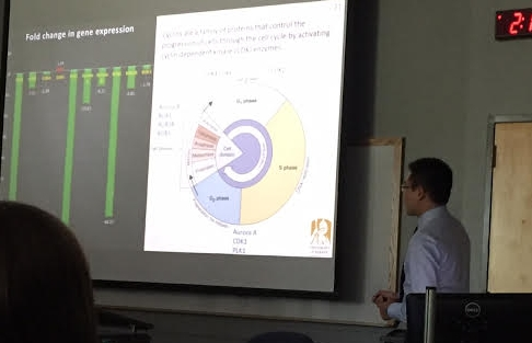 Tianyu presenting at the University at Buffalo Graduate Student Symposium.