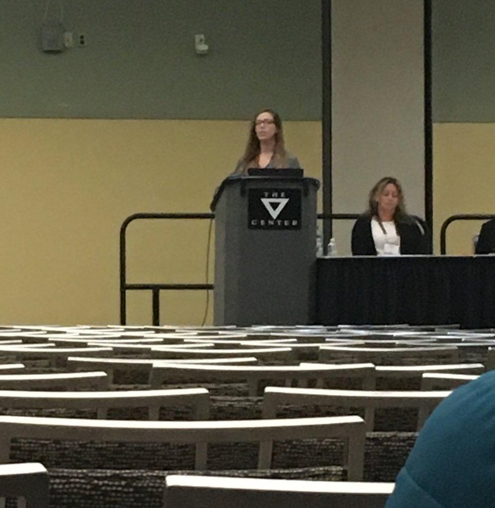 Kristen presenting her talk.