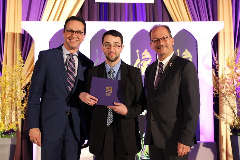 Mark receiving his award.