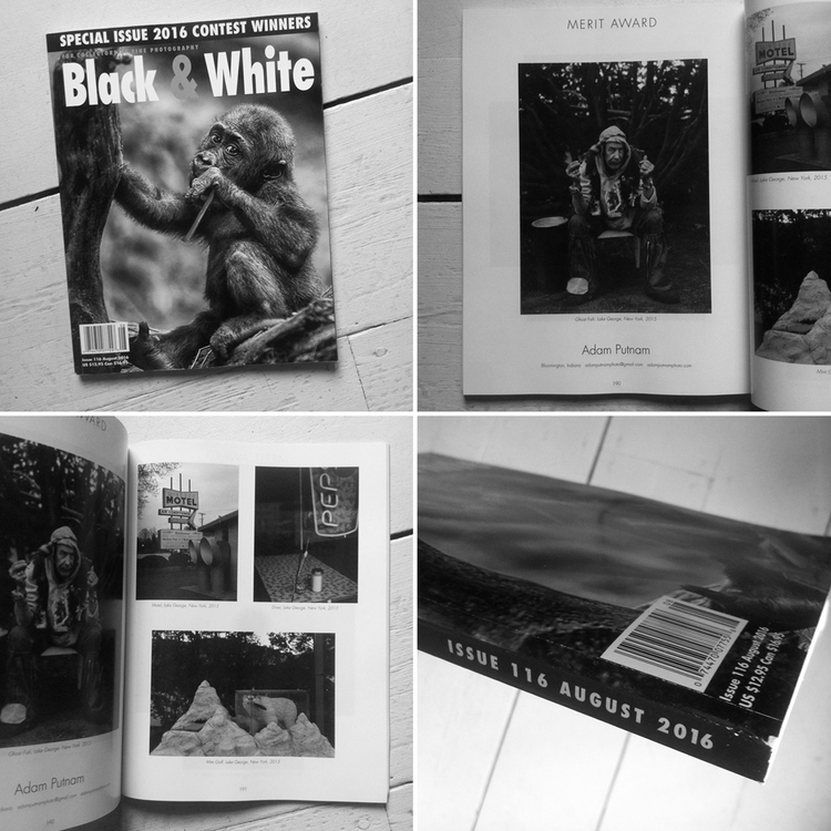 Merit award in the black white magazine 2016 portfolio contest four images from the american spirit project in issue 116