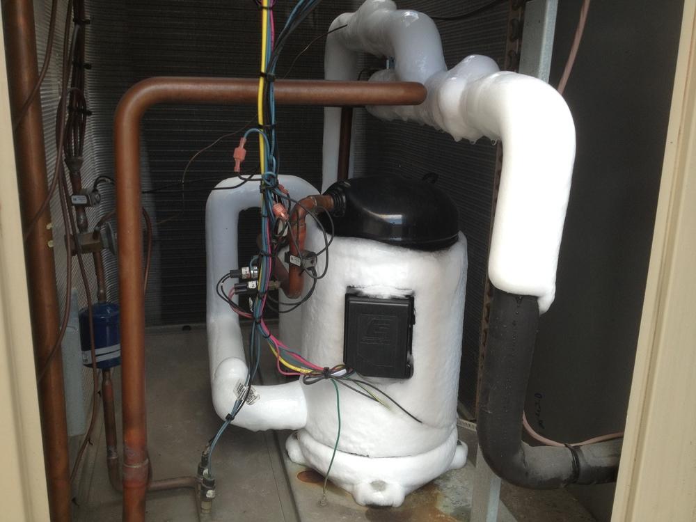 frozen compressor due to lack of maintenance.JPG