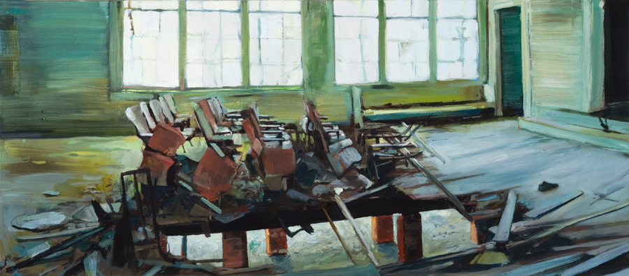 "Burnside Schoolhouse 2           22"" x 50"""