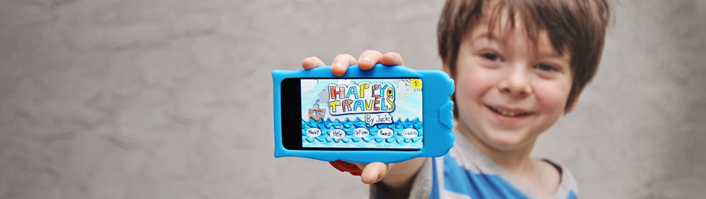Meet Jack.  He's an app fanatic with a vivid imagination, a flair for creating, and an obsession with books and theater.  And at five years old, he designed his first app: Happy Travels!