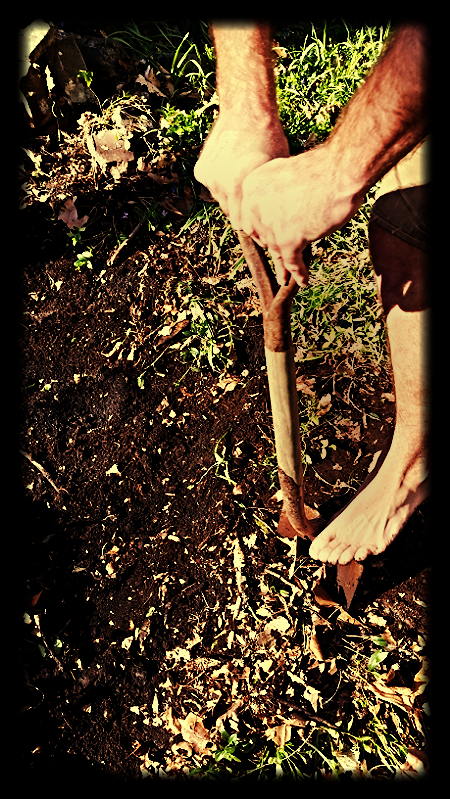 My friend Jake earthing while unearthing.