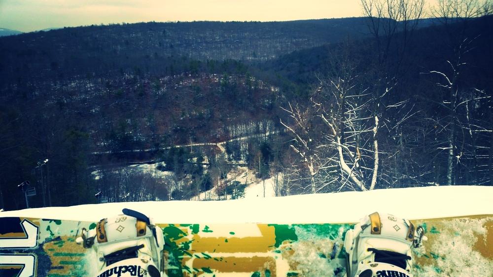 Snowboarding at Montage Mountain