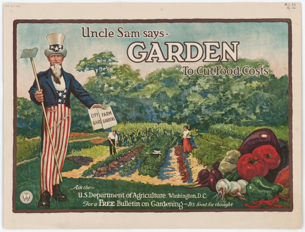 WWII Uncle Same Gardening Poster Source - National Archives