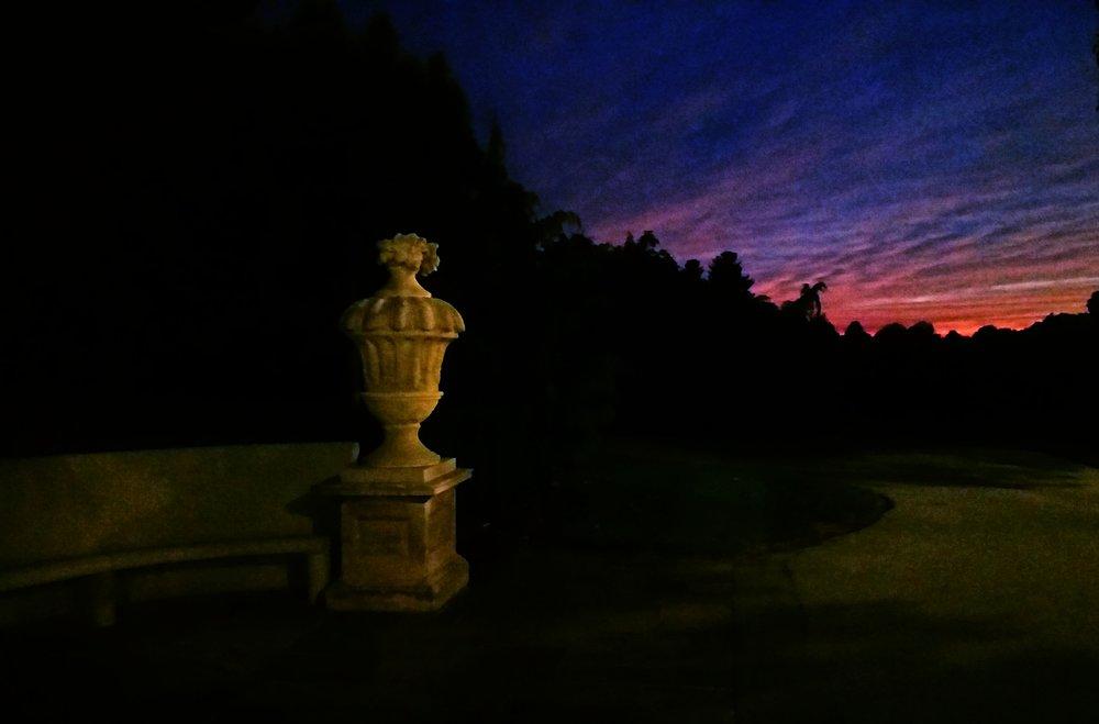 Dusk at Longwood Gardens