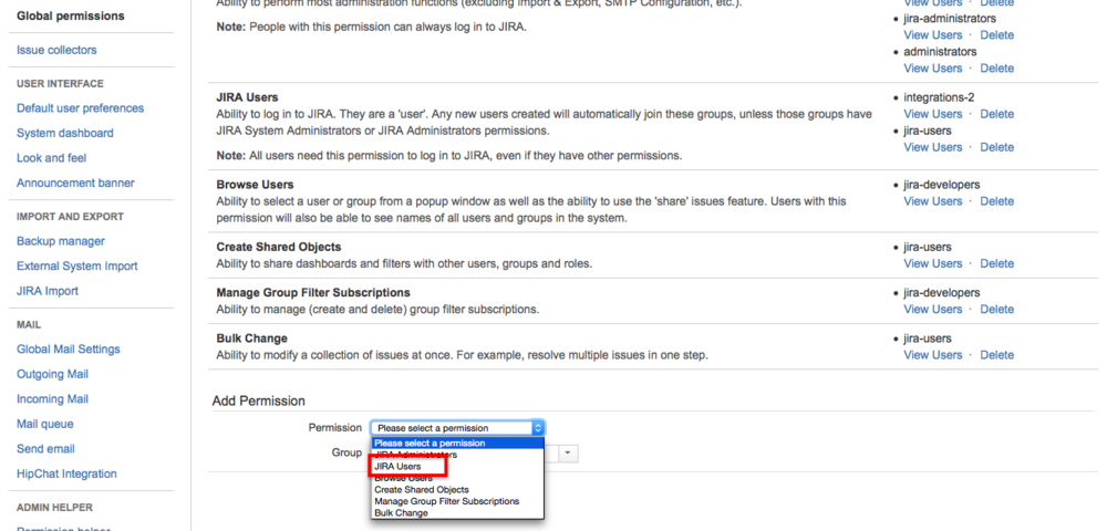 After creating user and group, go to Global Permissions and give group a  JIRA User global permission