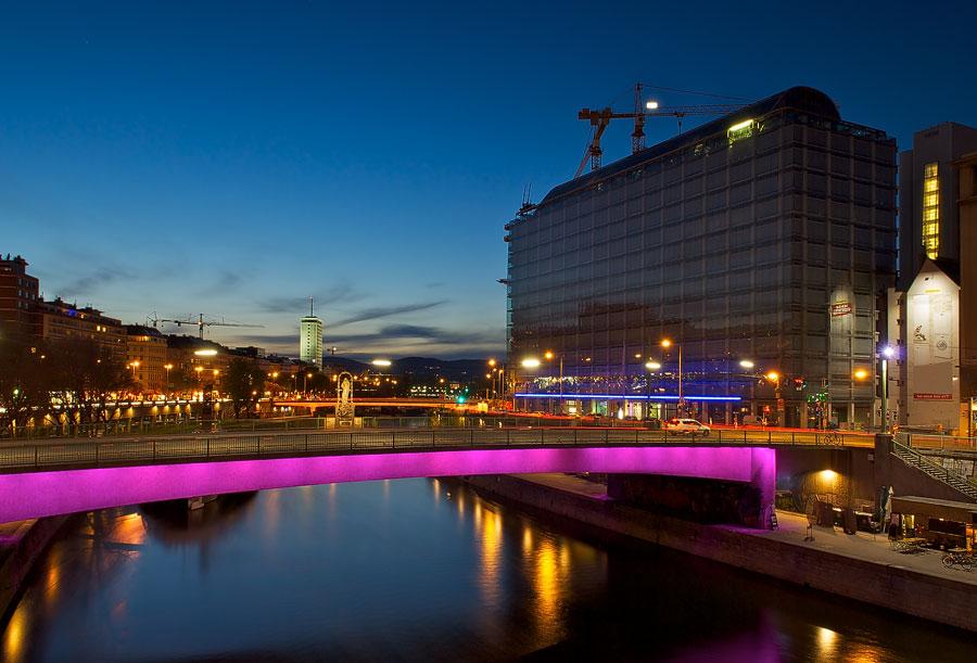Donaukanal bei Nacht
