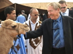 In Morocco Schmoozing with a camel