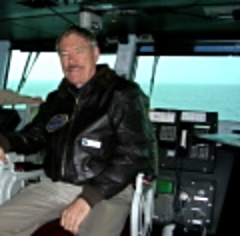 At Sea aboard the aircraft carrier USS Harry Truman Occupying the captain's chair (briefly)
