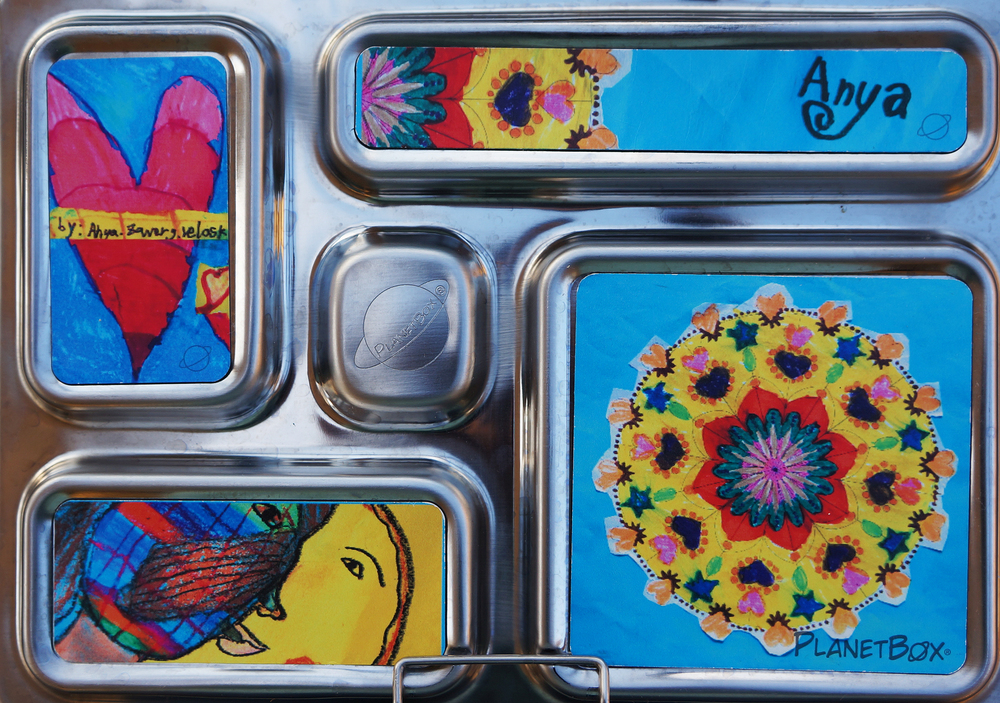 PlanetBoxs'  custom magnets - Anya's artwork