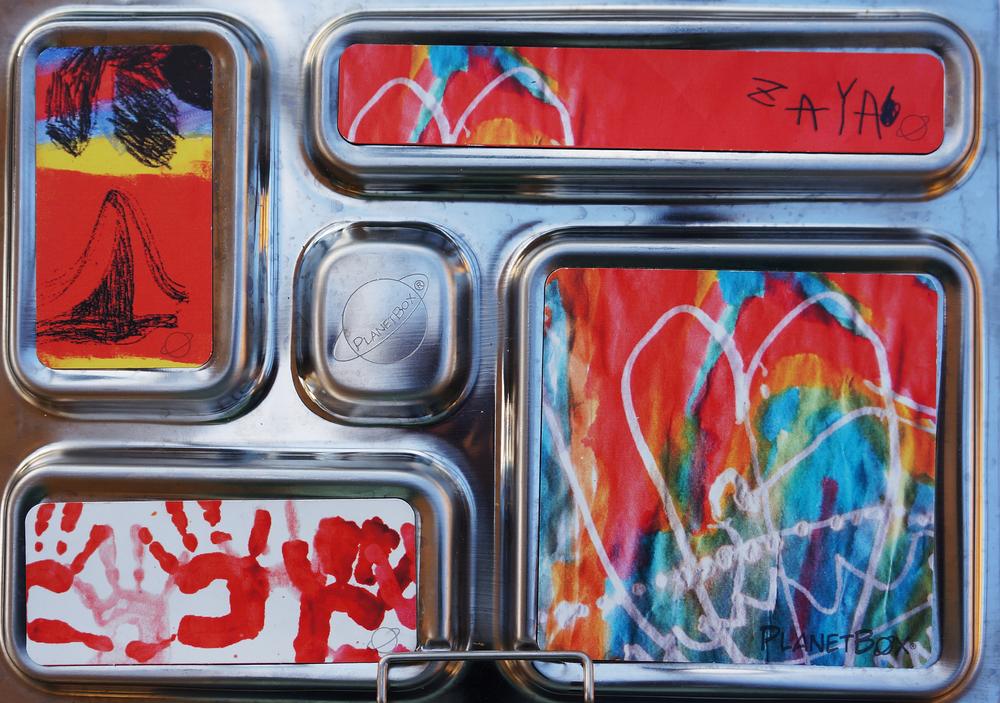 PlanetBoxs'  custom magnets - Zaya's artwork