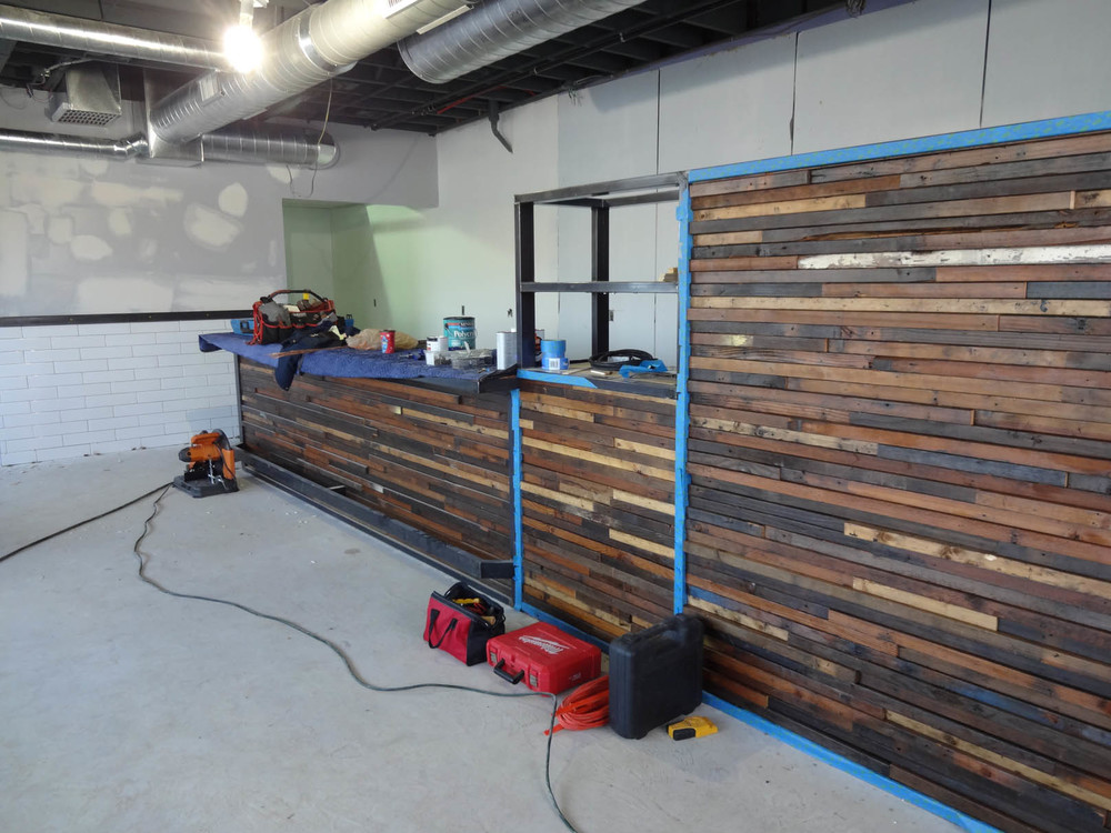 Johnny Noodle King Reclaimed Wood Bar Build Tree