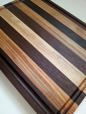 long grain butcher block black walnut  dark maple cutting board, Kitchen design
