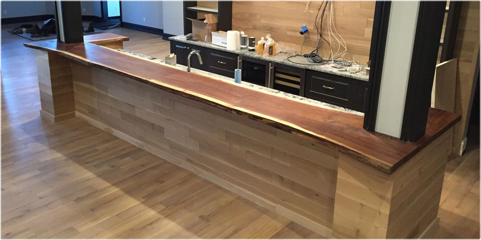 Live edge bar tops tree purposed detroit michigan live for Wood slab bar top