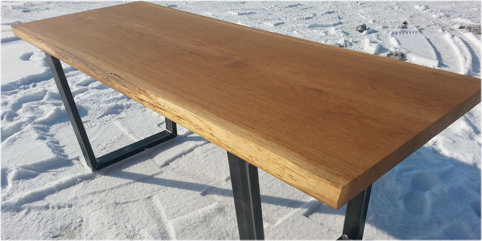 Bookmatched White Oak Table