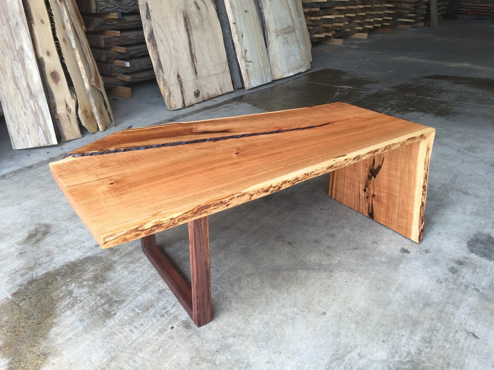 Cherry Waterfall Coffee Table TreePurposed Detroit Michigan