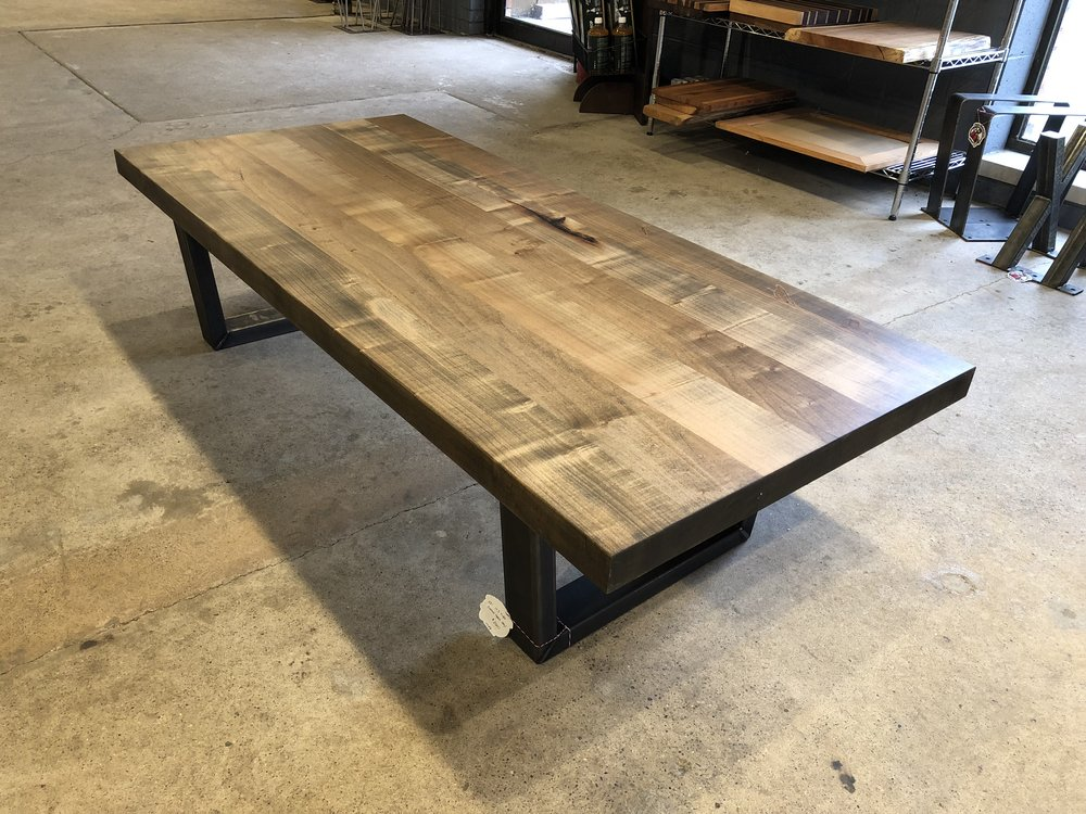 Silver Maple Coffee Table Top TreePurposed Detroit Michigan - Detroit coffee table