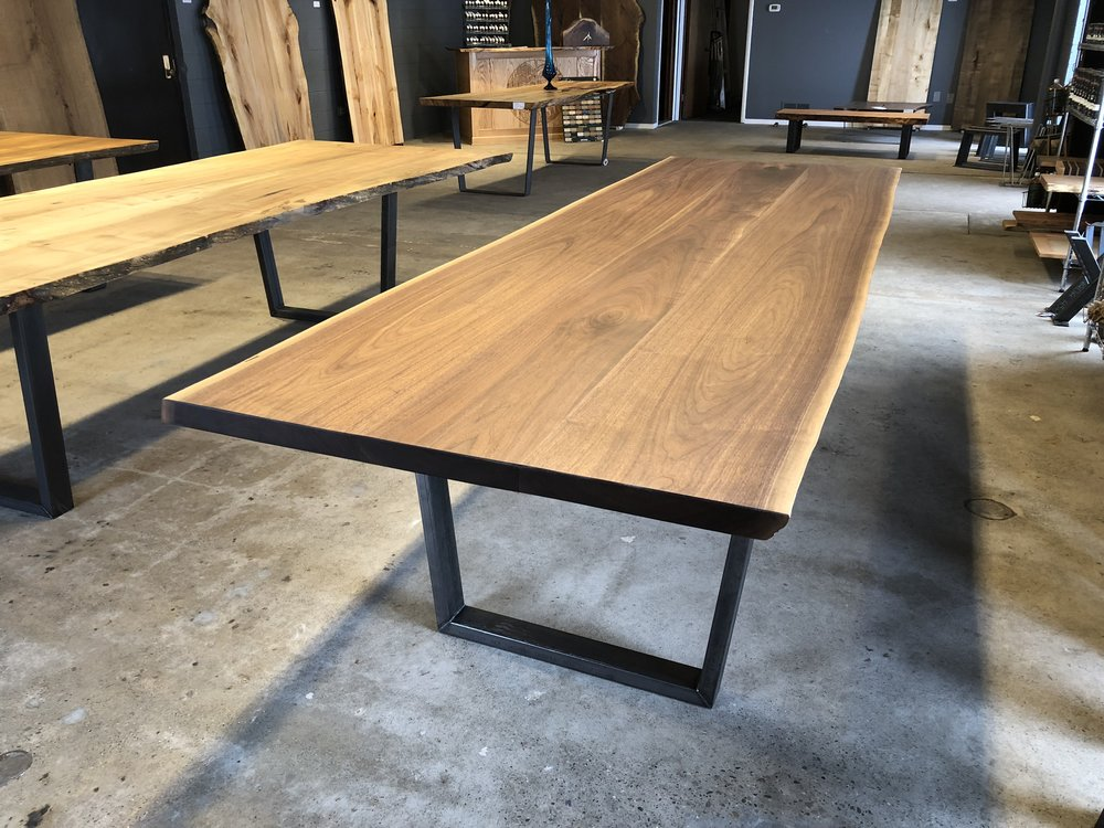 3 Piece Black Walnut Dining/Conference Table