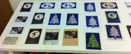So many creative results from the Lino Printing!