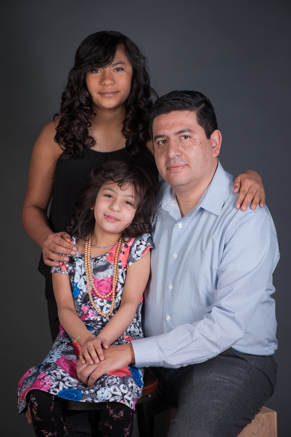 Father and Daughters Portrait Photos | Nomee Photography | Chicago Family Photographer in Studio