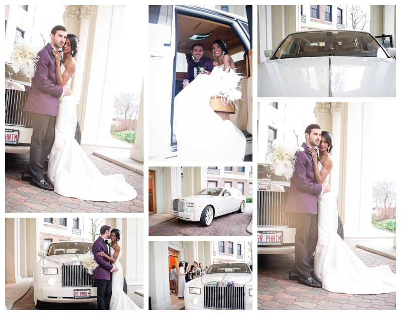 Nomee Photography-Great Gatsby-Hyde Park Mansion-Bride Groom and Car