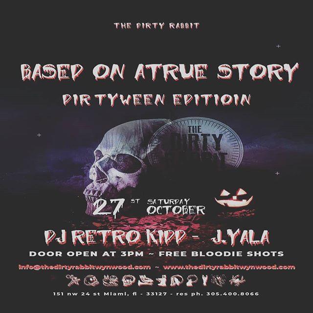 👻👻👻🔪🔪🔪 Halloween festivities continue at @thedirtyrabbitwynwood 🐇 LET'S GOOOO!!! 🙌  #thedirtyrabbit #wynwood #miami #musica #latin #reggaeton #salsa #top40