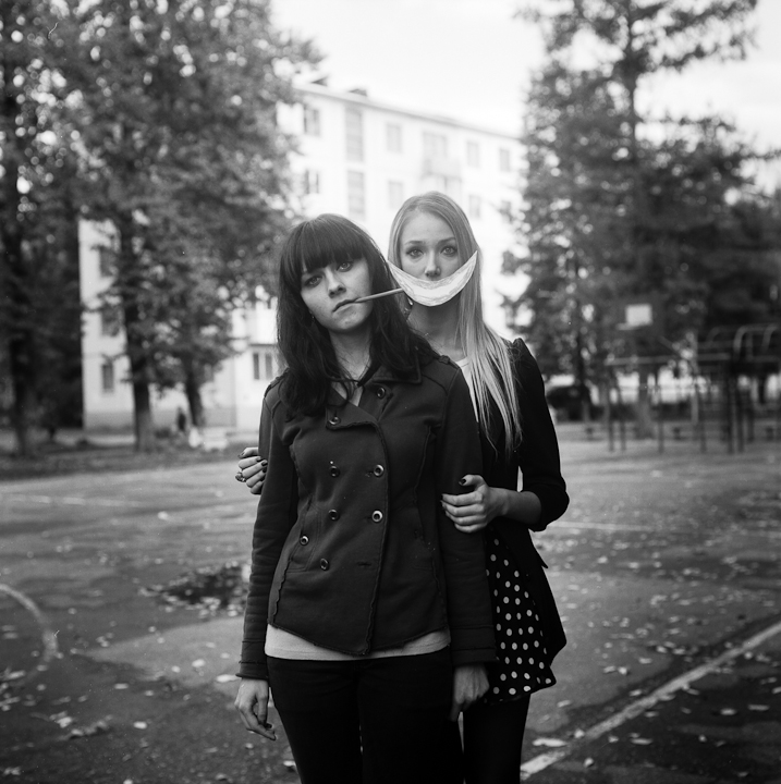 Katya and Vika (portrait with smile)
