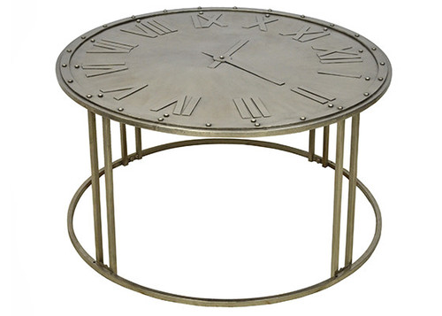 clock coffee table — interiors on main   kitchens   furniture