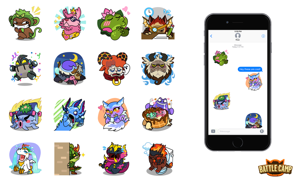 Battle Camp iMessage Stickers