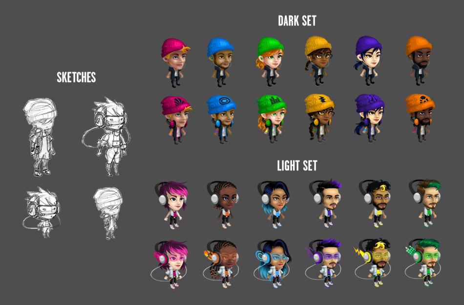 Starter character concepts + vectors