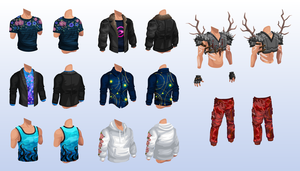 Male Avatar Items (Vector)