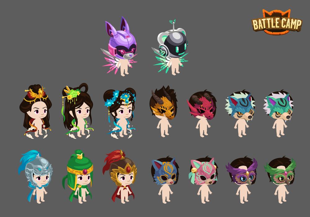 Various Avatar Costume Accessories