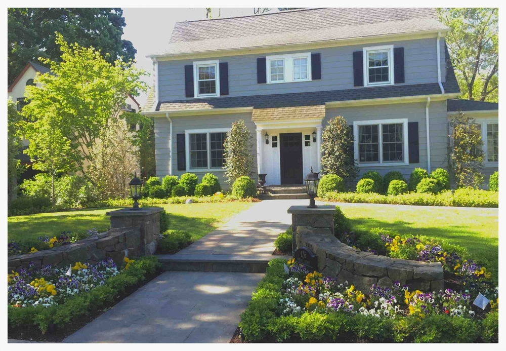 Front Garden Complete Re-design, Large Removals, Large Transplanting, Extensive New Plantings - Philipse Manor, Sleepy Hollow, New York