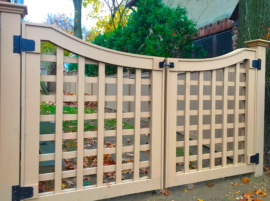 Designed And Handcrafted Cedar Gate And Custom Fencework - Scarsdale, New York