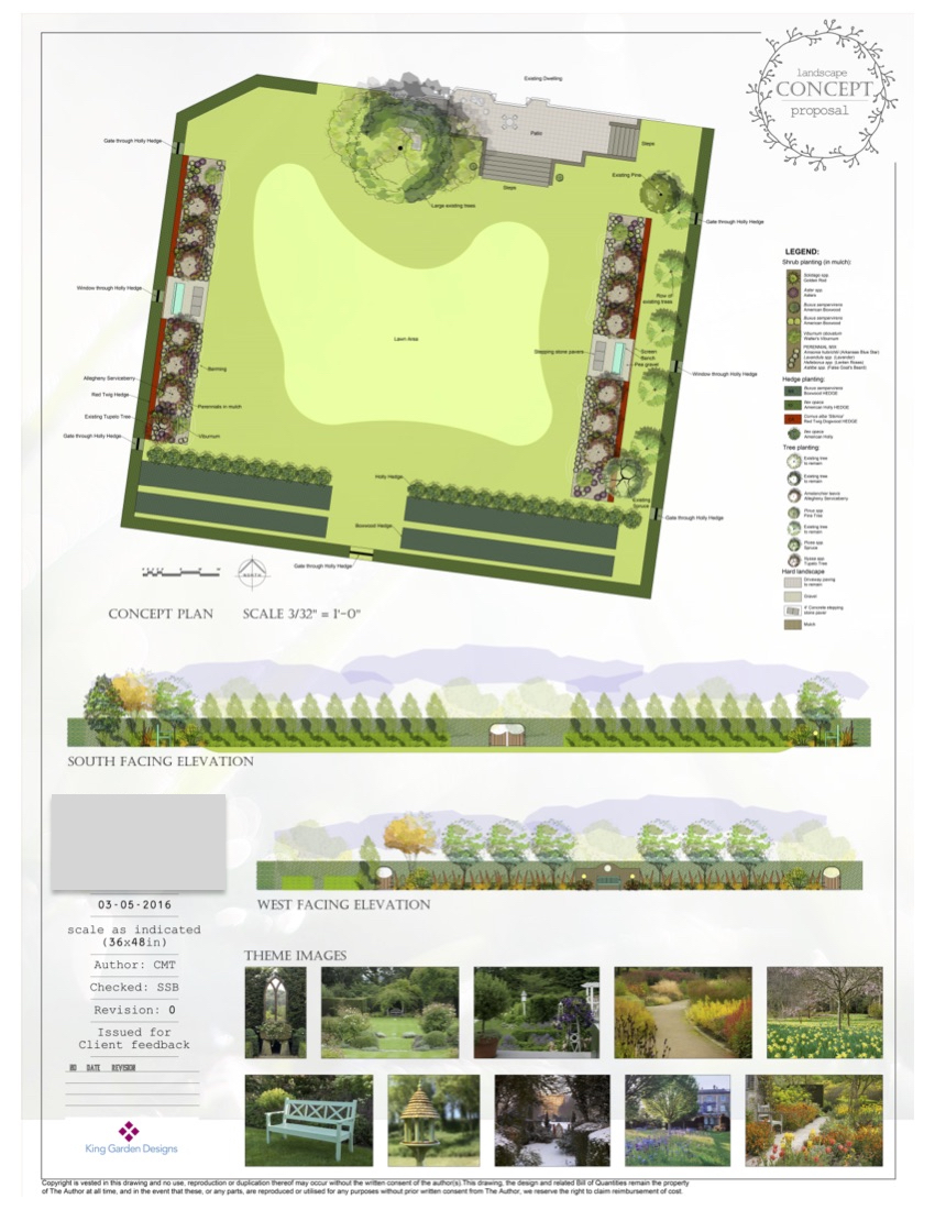 Estate Restoration and Renovation Concept Plan - Lawn Court With Natives