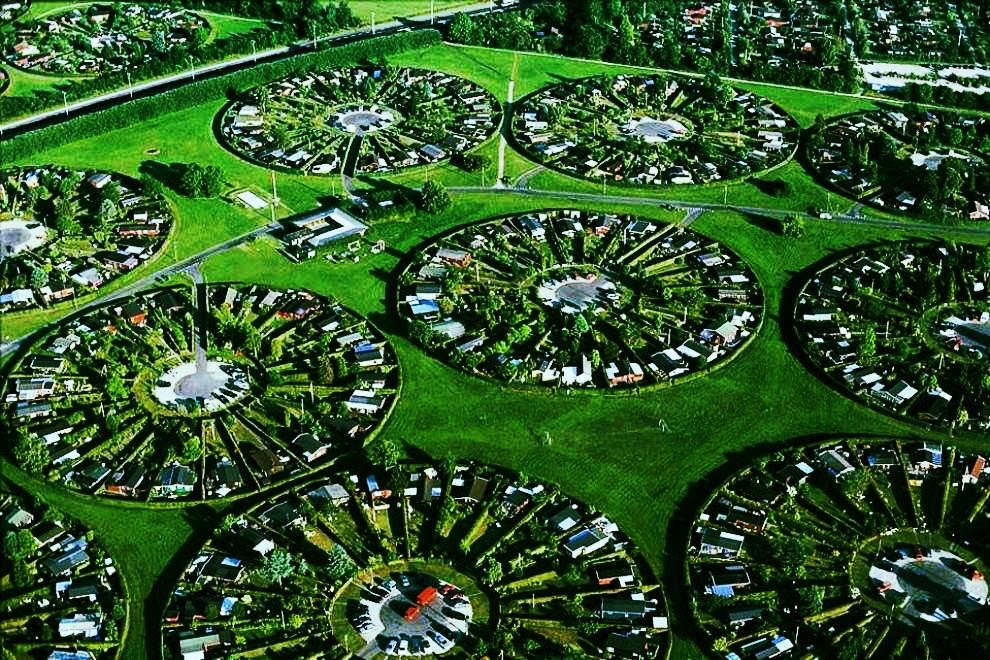 Denmark - Kopenhagen's circular suburbs; utopias come true