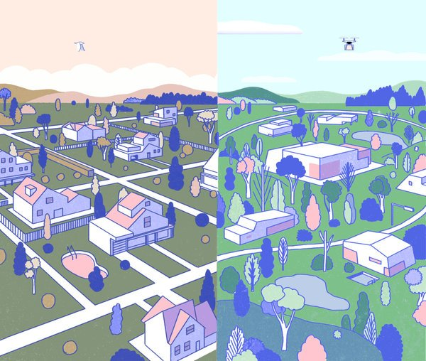 NY Times: The Suburb of the Future, Almost Here   https://www.nytimes.com/2017/09/15/sunday-review/future-suburb-millennials.html